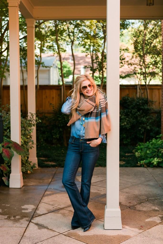 blanket scarf, Nordstrom, FilmFashionFun.com, Tanya Foster