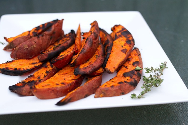 grilled sweet potato fries, Live with Kelly and Michael, tanyafoster.com