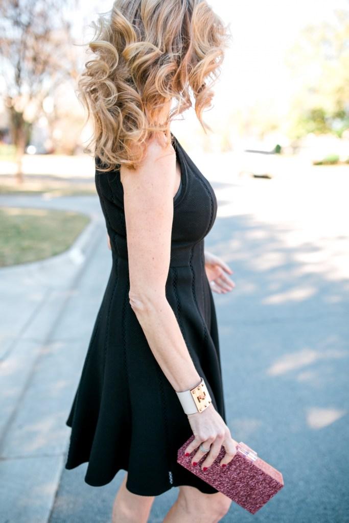 Black Rebecca Taylor dress, Nordstrom, Tanya Foster, tanyafoster.com