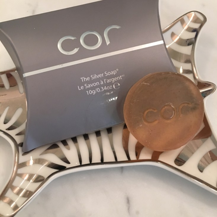 COR, silver soap, face wash, soap, clean skin, breakouts