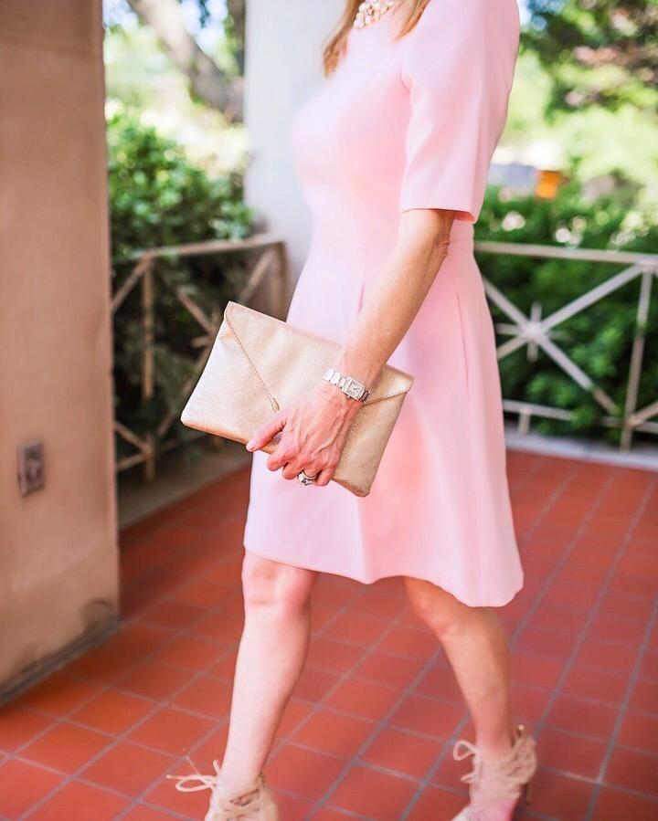 Eliza J dress, blush, Instagram round up, Tanya Foster
