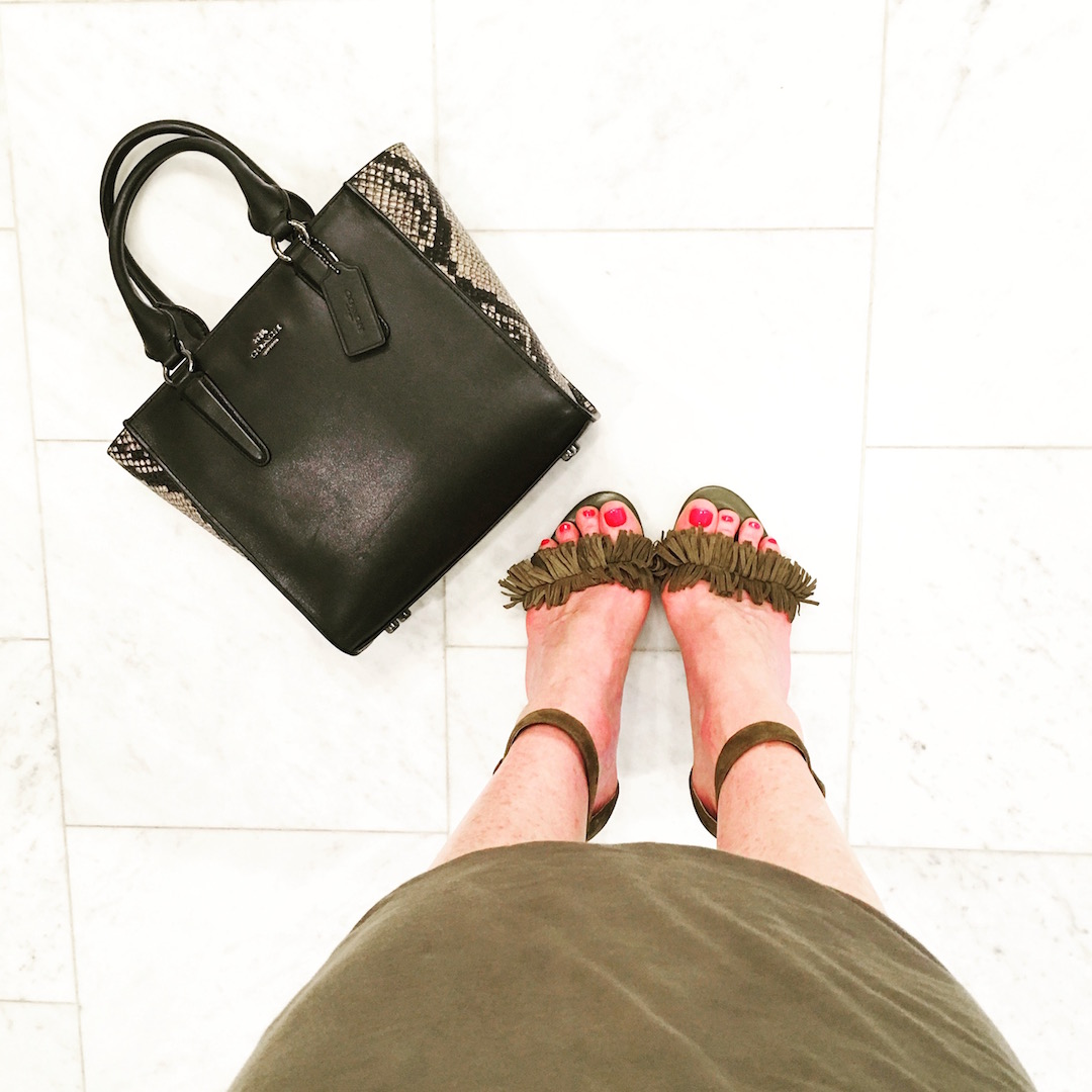 Coach bag, olive heels, Nordstrom Anniversary Sale, Tanya Foster, Nsale