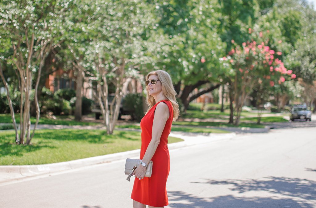 Red Crepe Sheath Dress | Nordstrom Giveaway