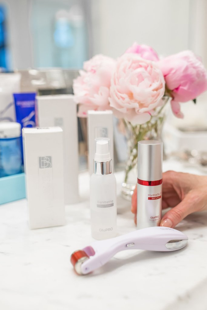 GloPRO® MicroStimulation Facial Tool & HydraGLO™ Serum, Neiman Marcus, skincare, TanyaFoster.com, review