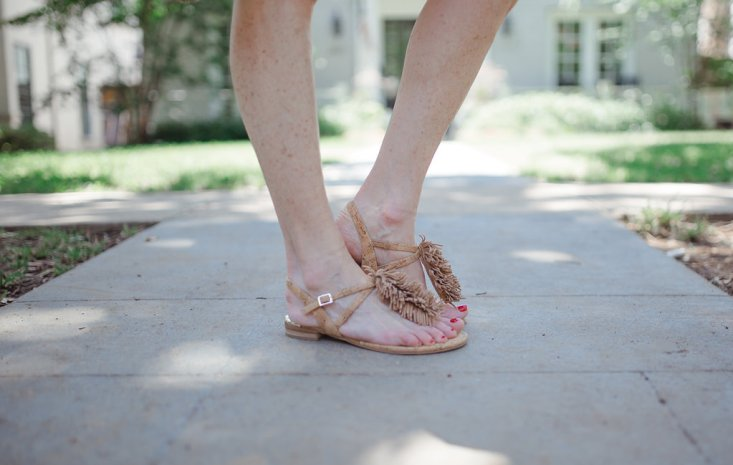 cork sandals, on sale, flats, Elaine Turner, shoes