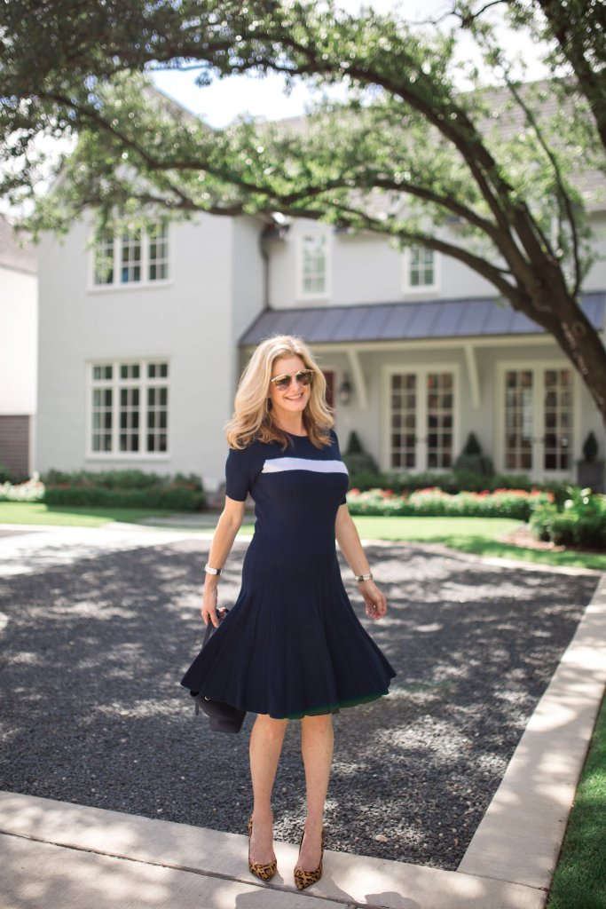 Draper James, Dallas store, Highland Park Village, Reese Witherspoon's store, blue dress, Tanya Foster