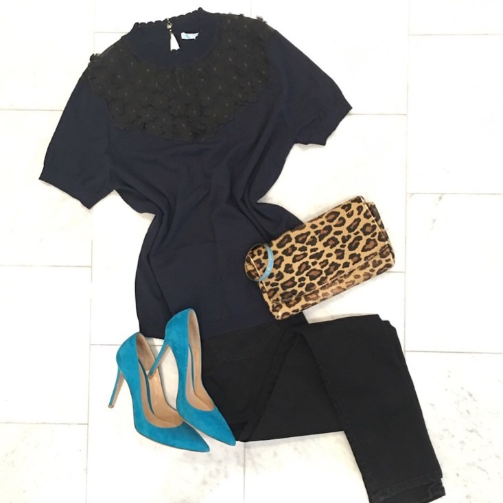 Instagram roundup, Tanya Foster, Dallas Lifestyle blogger, Draper James jeans and top, animal print clutch