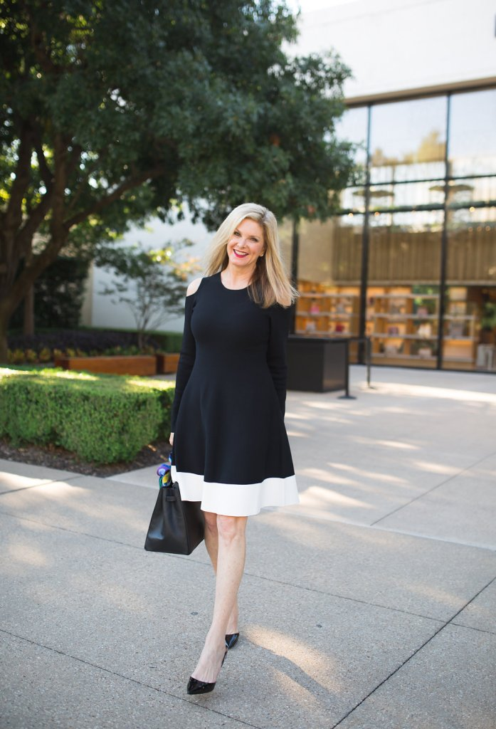 cold shoulder dress, Eliza J dress, Nordstrom, Alicia Wood, Tanya Foster, The Lush List, black dresses, Dallas Lifestyle blogger