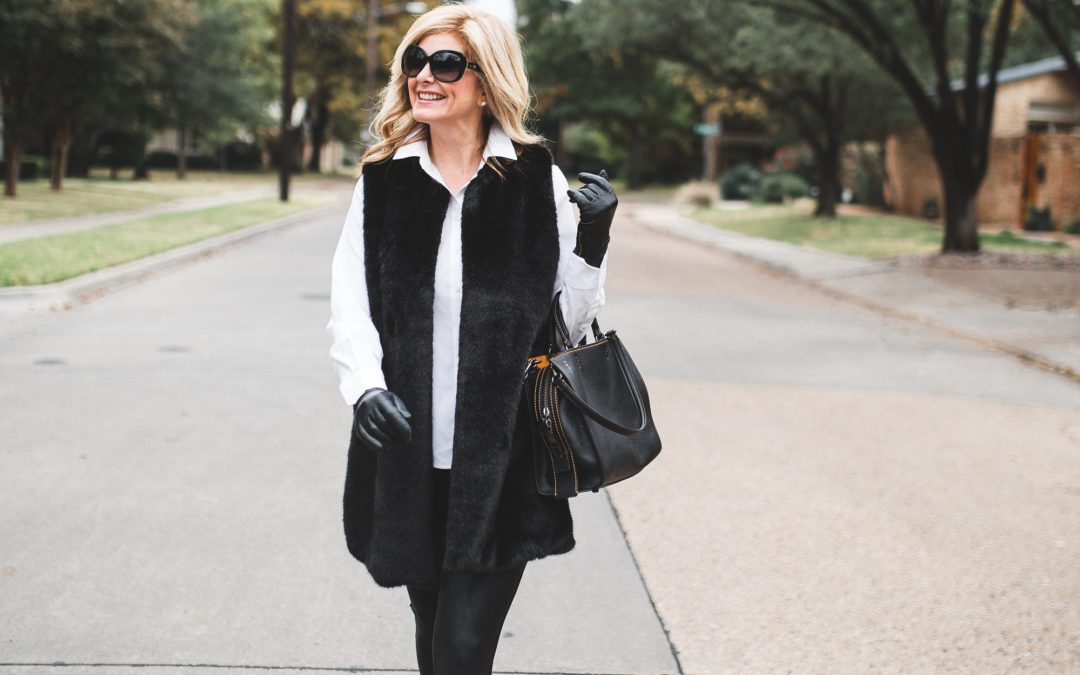 How to wear faux fur and leather