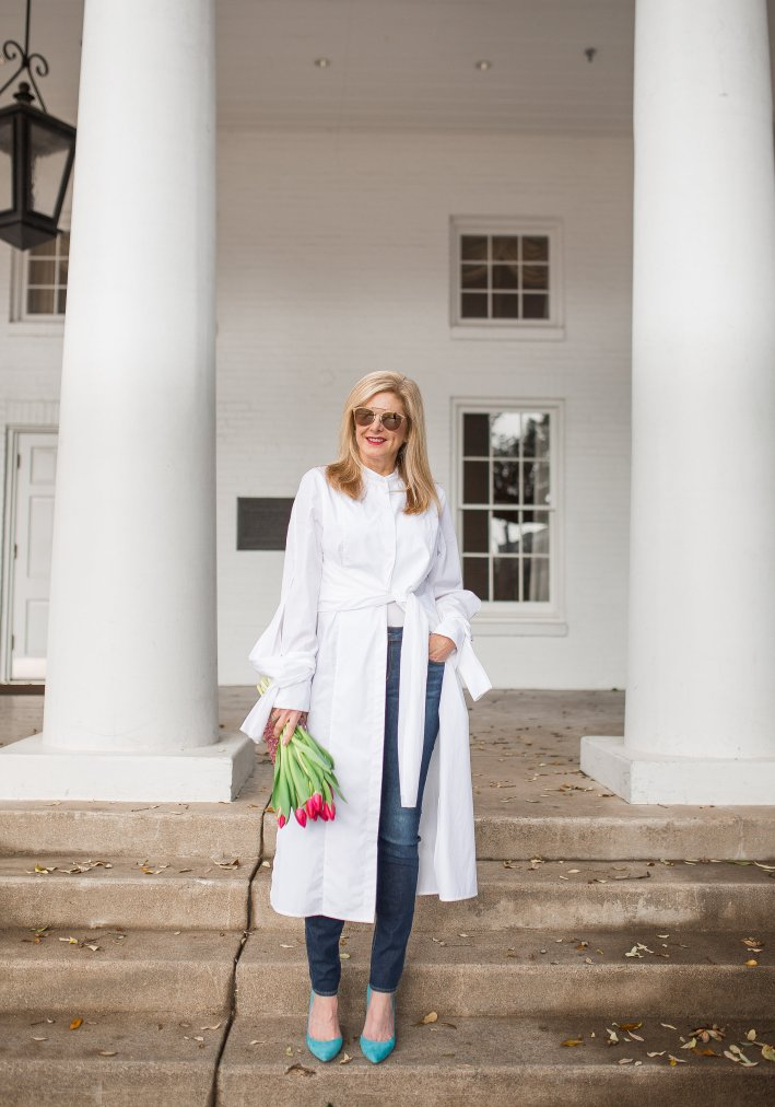 How to wear a shirtdress as a jacket