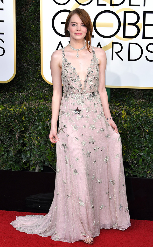 Emma Stone at the 2017 Golden Globes
