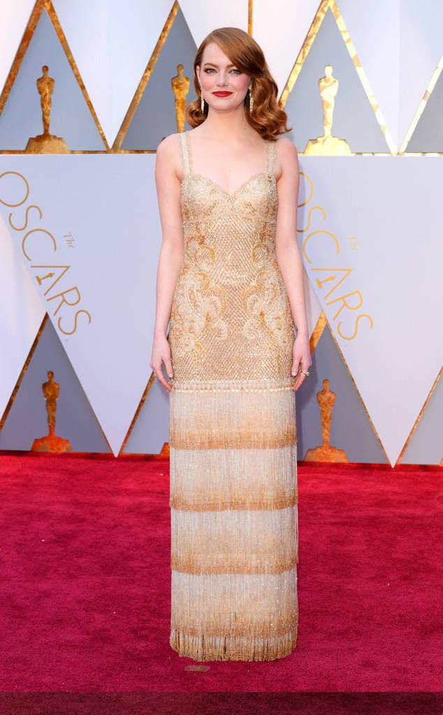 Emma Stone at the 2017 Oscars