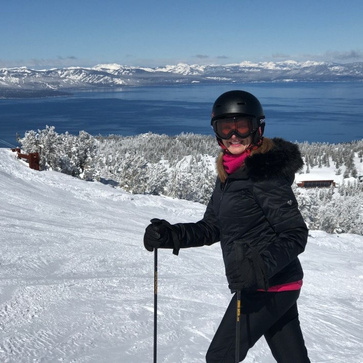 Tanya Foster goes skiing in Tahoe, Nevada and California on TanyaFoster.com