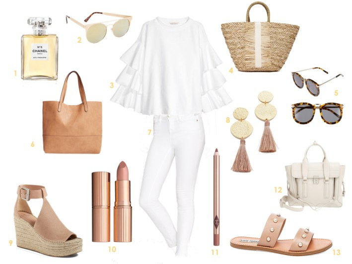 The best ways to combine white and nude for spring