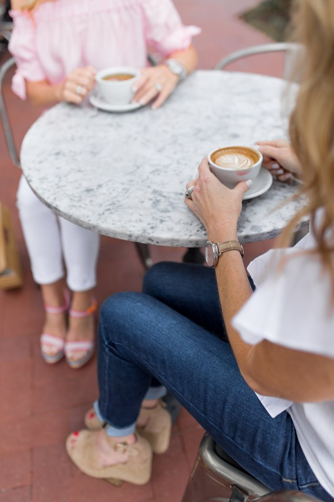 TanyaFoster.com and The Lush List show how to wear wedge heels over coffee.