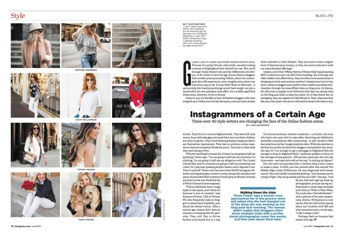 Instagrammers of a Certain Age in D Magazine// Tiffany Davros// Street Style Squad// D Magazine
