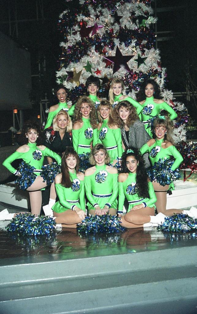 The Dallas Mavericks Dancers with Tanya Foster