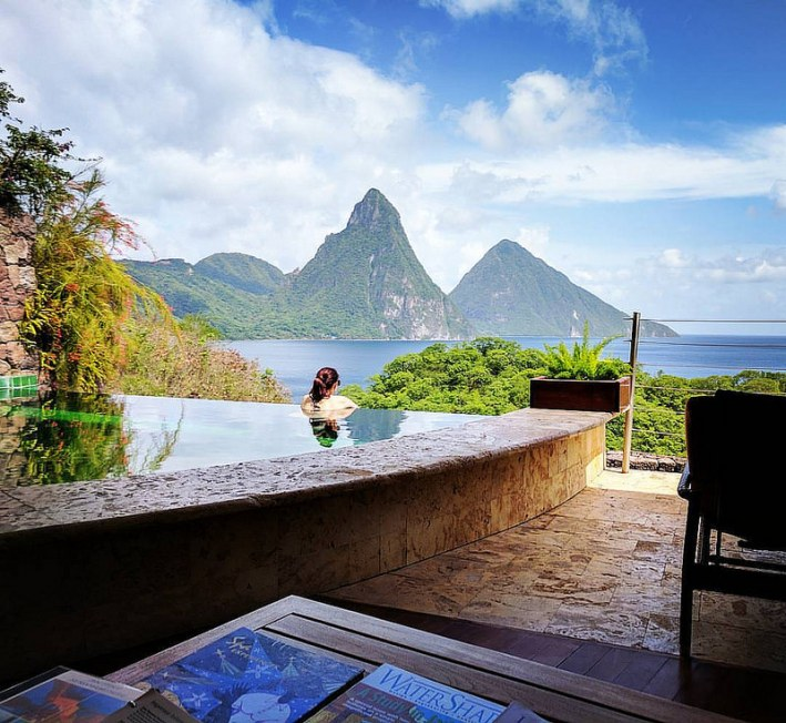 Jade Mountain in St. Lucia is a vacation paradise. Details on TanyaFoster.com