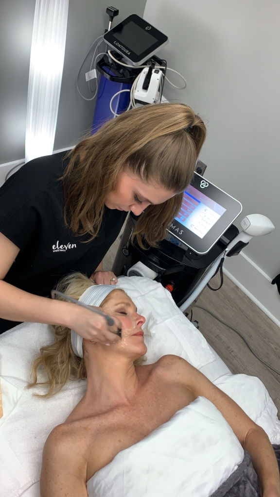 Forma Facial at Eleven Wellness spa featured by top US beauty blogger, Tanya Foster