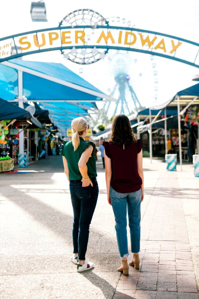 Tanya Foster and assistant at the Texas State Fair wearing avara