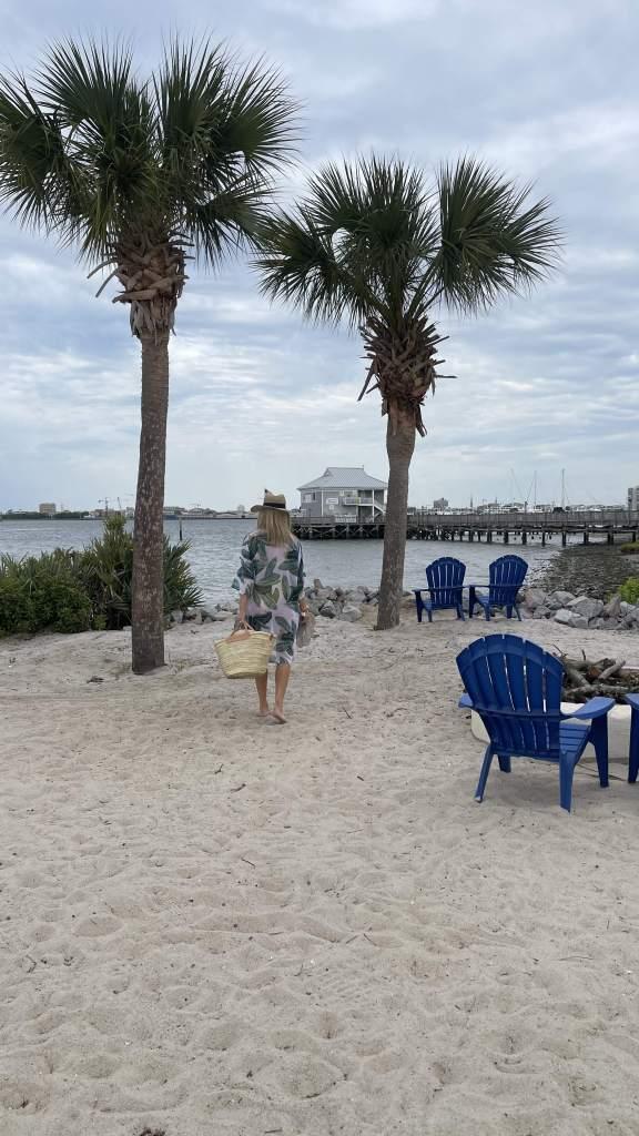 Beach area at Charleston Beach Club