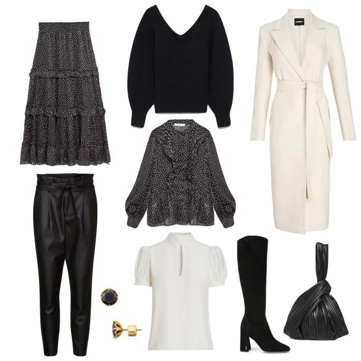 black and white fashion edit
