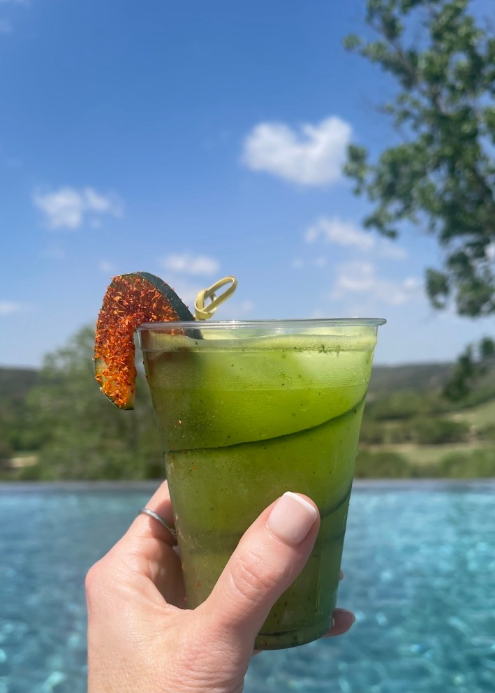 Cucumber Giblet at the adult pool