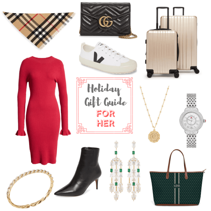 2019 Holiday Gift Guide for HER including clothing, jewelry and handbag
