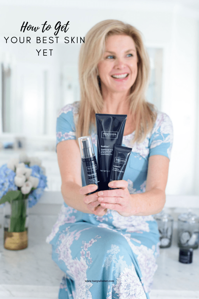 Tanya Foster with revision skincare products how to get your best skin yet