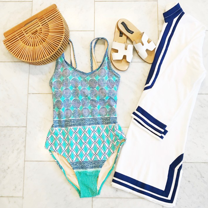 Cabana life swimsuit cabana life cover up and steven greece sandals with an arc by gaia bag