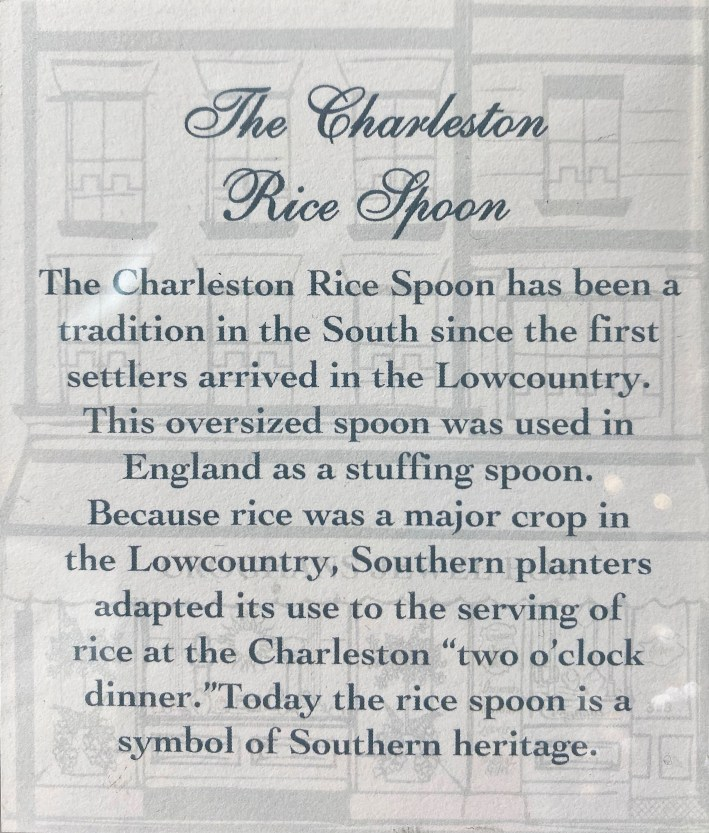 History of the Charleston Rice Spoon