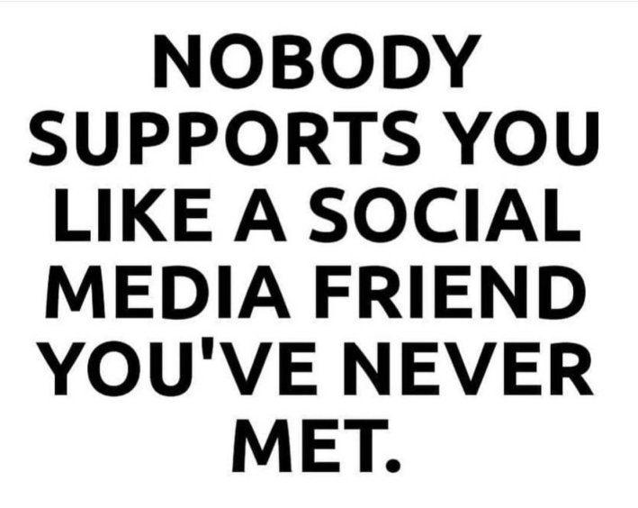Nobody Supports You Like A Social Media Friend You've Never Met