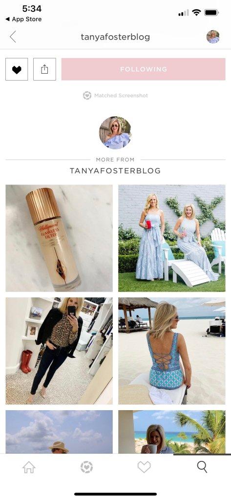Following tanyafosterblog on the LTK app