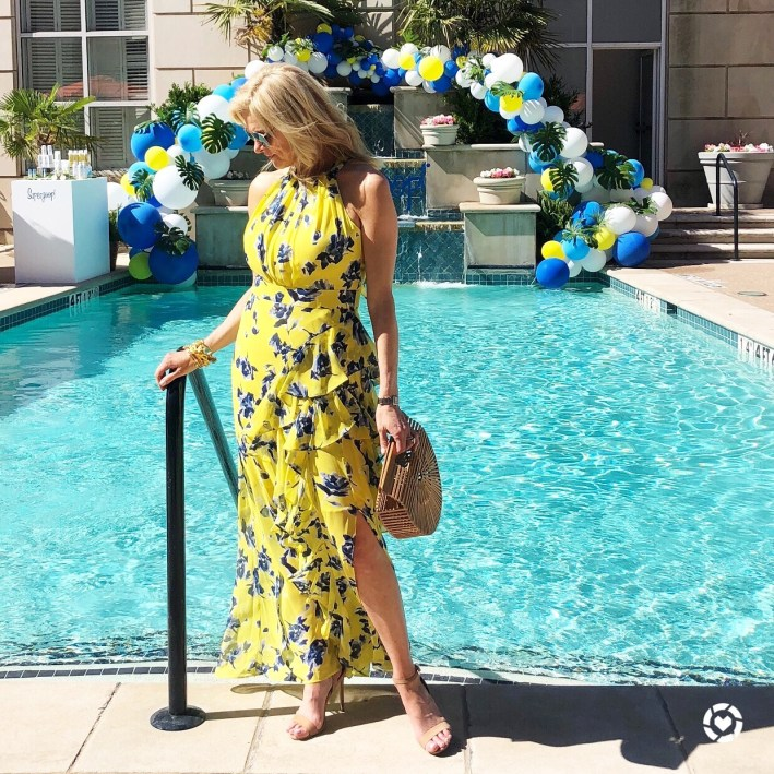 rewardStyle conference 2018, yellow Eliza J dress