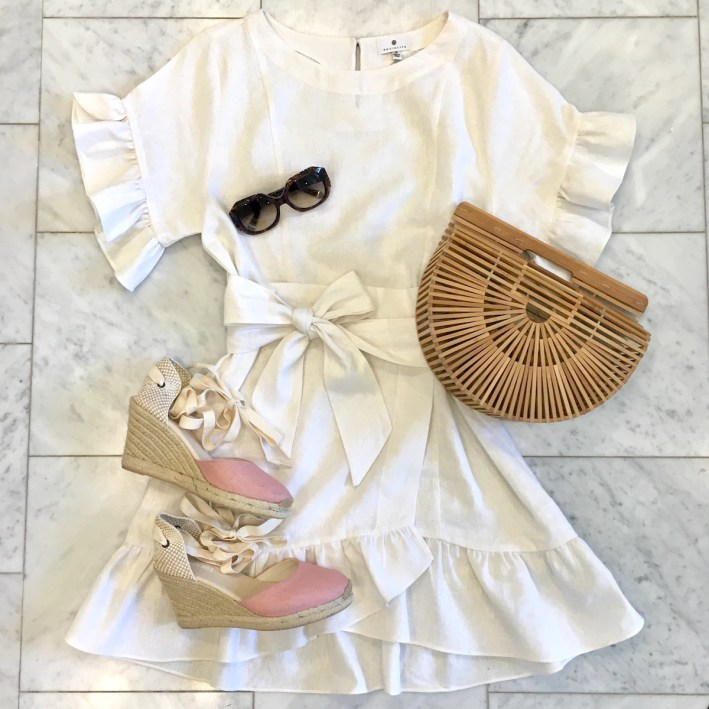 White wrap dress with