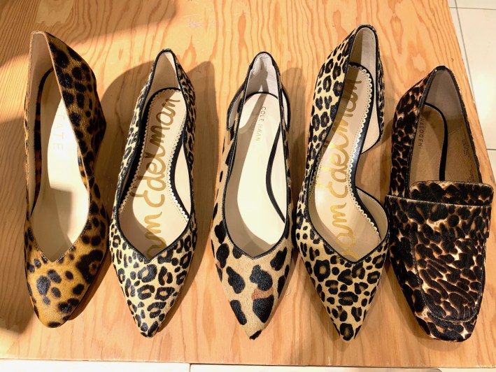 Top US fashion blogger, Tanya Foster shops the Nordstrom Anniversary Sale: image of leopard print shoes