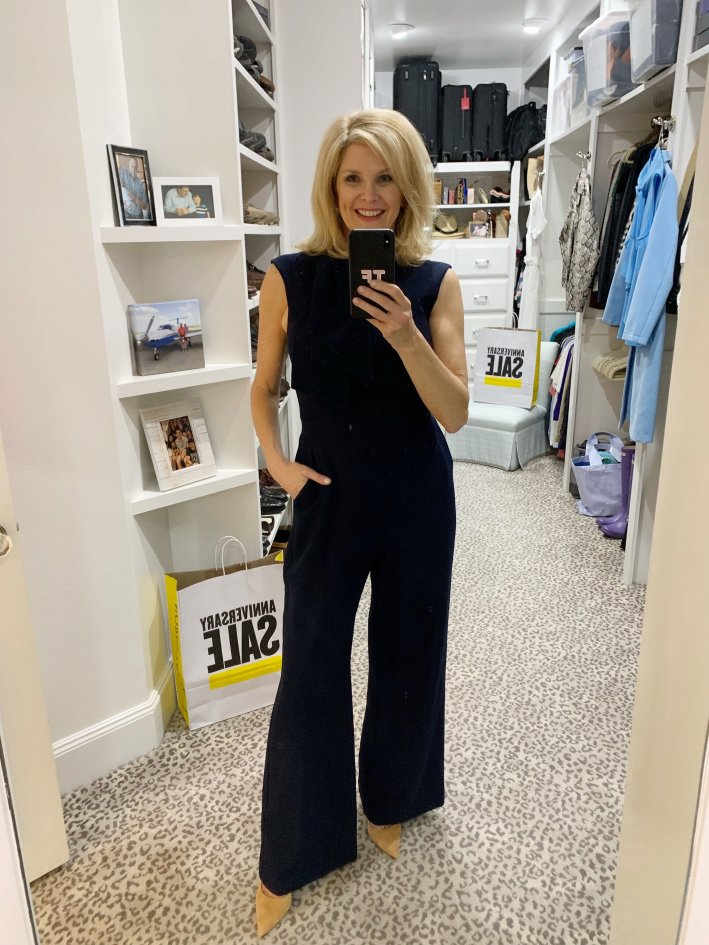 Top US fashion blogger, Tanya Foster shops the Nordstrom Anniversary Sale: image of Tanya Foster in Harper Rose Jumpsuit