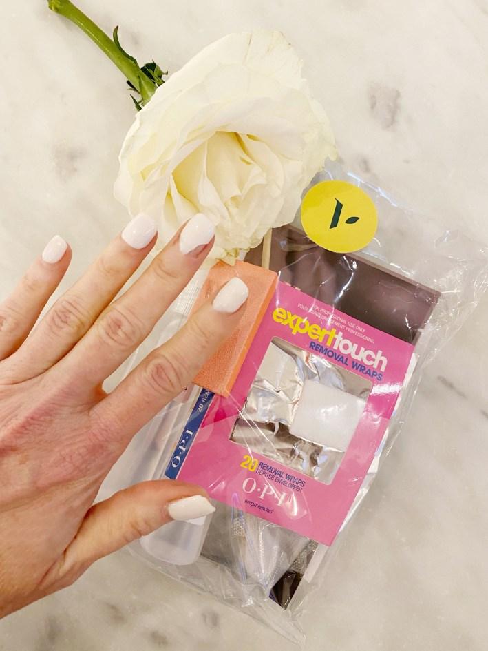 Tanya Foster nails with nail polish at home makeover