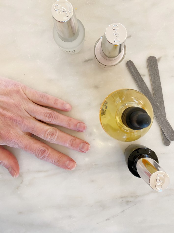 tanya foster before at home manicure