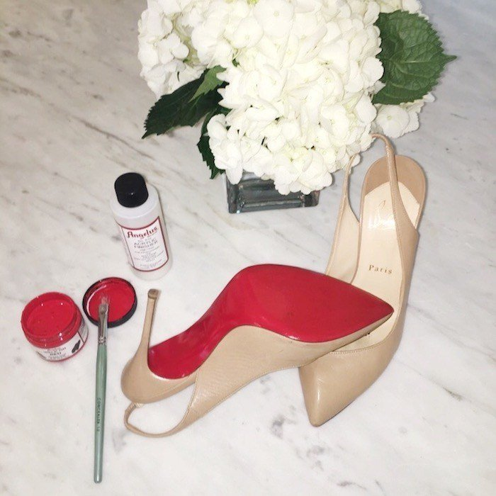 How ot protect your Louboutin red soles featured by top US fashion blogger, Tanya Foster