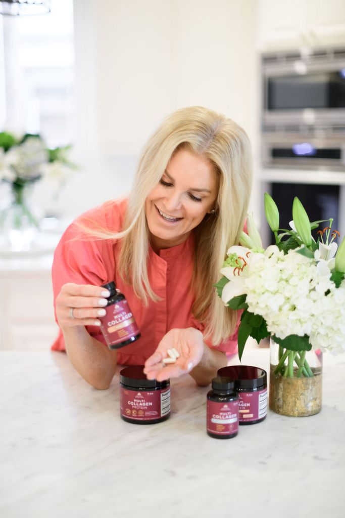 Tanya foster holding ancient nutrition multi collagen protein