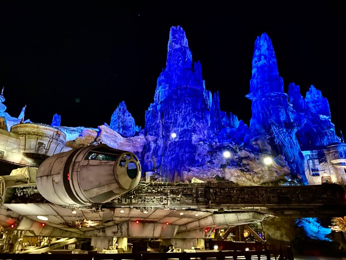 Millenium Falcon in Star Wars Galaxy's Edge