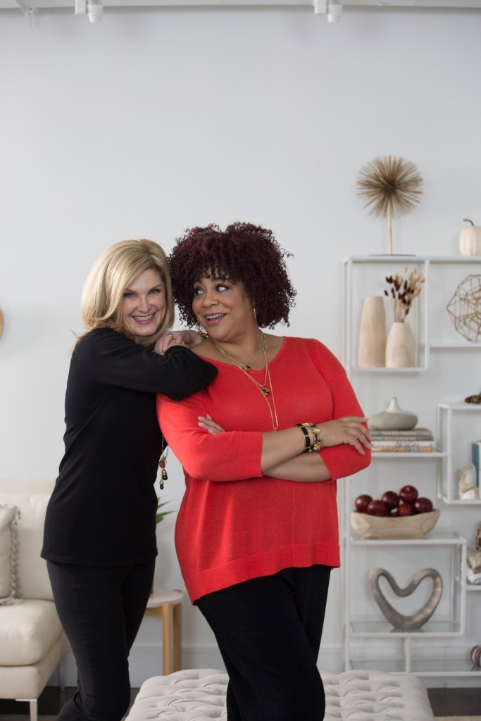 Tanya Foster and Kim Coles in the Chico's #ChicToChic fall 2017 campaign on TanyaFoster.com