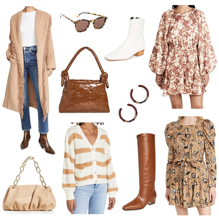 Shopbop fall sale event collage of items
