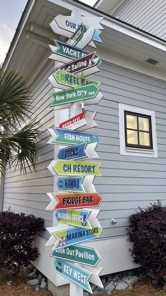 Signs at hotel - Charleston Beach Club