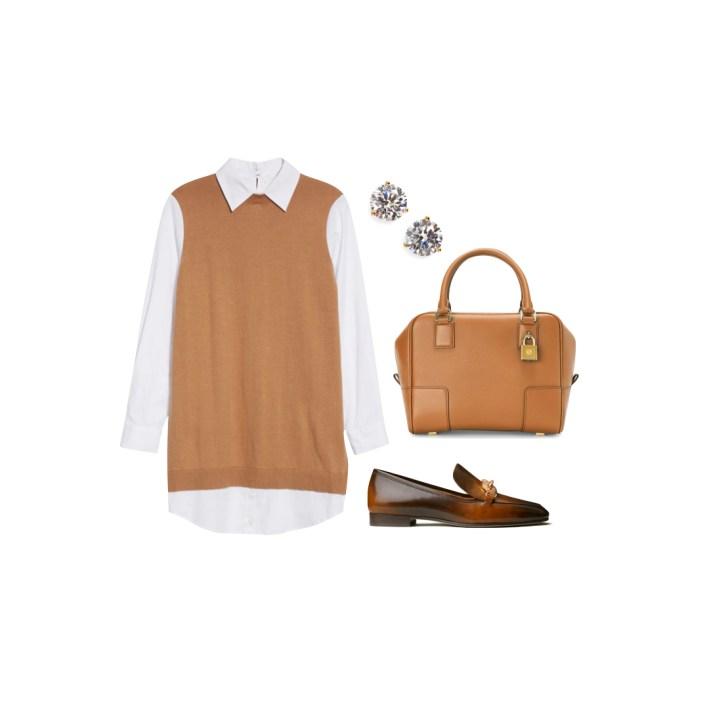 Staud dress and accessories