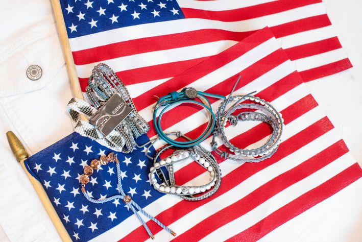 Victoria Emerson SALE for the 4th of July featured by top US fashion blogger, Tanya Foster: image of Victoria Emerson Bracelets on SALE for the Fourth of July