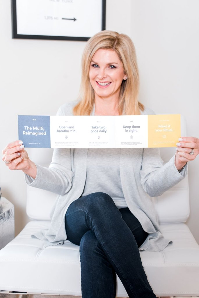 Tanya Foster holding a pamphlet