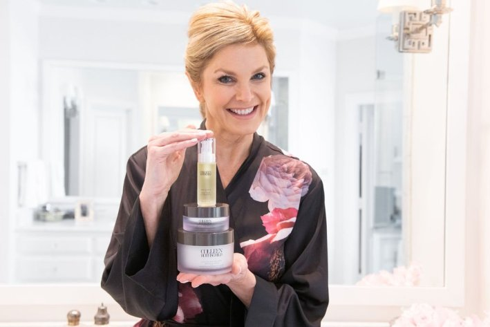 Tanya Foster holding spa-treatment level product