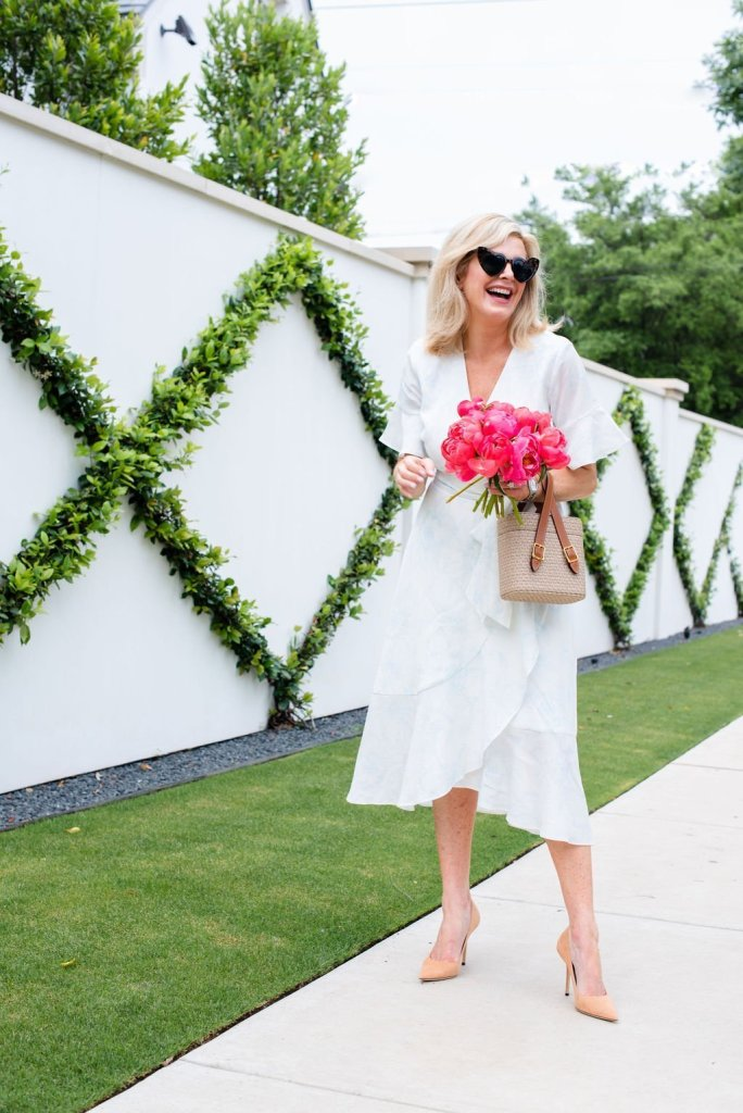 Linen wrap dress for the summer season!